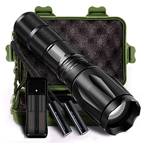 LED Tactical Flashlight Ultra-Bright 1000Lumens Portable Handheld 01