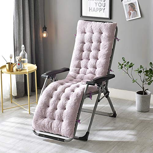 Yilian Zuodian Fashion Simple Solid Color One Thickening Four Seasons Chaise Longue Cushion Rocking Chair Cushion Car Seat Universal (Color : Light Purple, Size : 160X50X12CM)