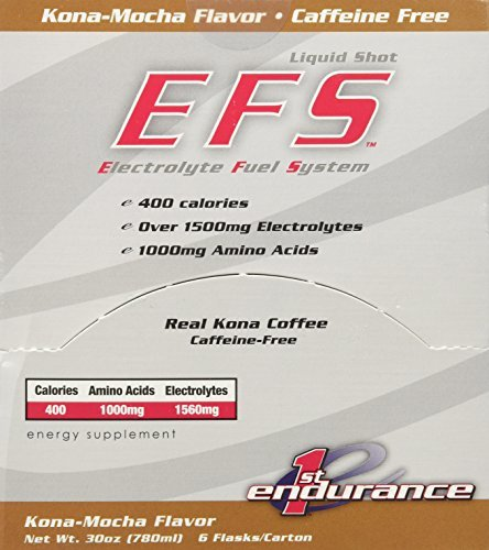 First Endurance EFS Liquid Shot - 6 Pack One Color, Kona Mocha by First Endurance (Efs Liquid Shot)