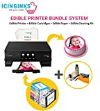 Icinginks Latest Edible Printer Bundle, Includes 50 Edible Sheets, Edible Cartridges, Edible Cleaning Kit, Cake Printer, Edible Ink Printer, Edible Image Printer, Canon Edible Printer