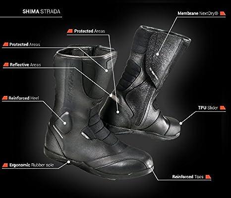 41 – 46 Shima Strada Vintage Hombre Retro Road Sport Botas