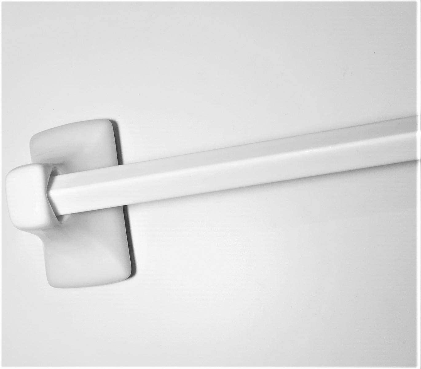Squarefeet Depot 24 Towel Bar White Glazed Ceramic Tub Shower Bath Accessories Wall Bath Thinset Or Adhesive Mount No Need For Hardware It Is Not Self Adhesive Home Kitchen