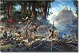 ''The Gathering'' by Thomas duBois - Artwork On Tile Ceramic Mural 12'' x 18'' Kitchen Shower Backsplash