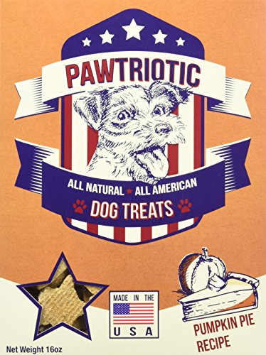 PAWTRIOTIC All Natural All American Dog Treats (1 Pack), Pumpkin Pie