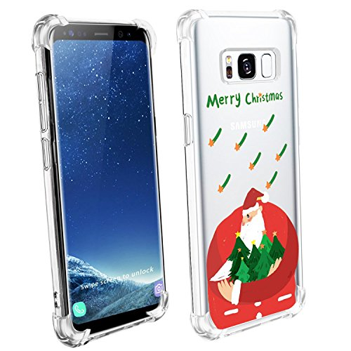 Price comparison product image Beryerbi Samsung galaxy s8 Plus Case Flexible TPU Ultra Thin Air Cushion Conners Protective Cover (1, galaxy S8 Plus)