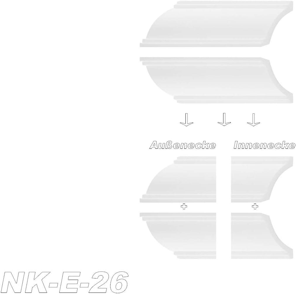 Innenecke Au/ßenecke f/ür Marbet Zierleisten Stuck NK-E-10 1 St/ück