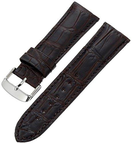 Hadley-Roma Men s MS2022RA-200 20-mm Black Genuine Alligator Leather Watch Strap