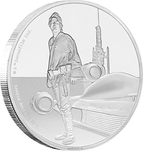 2017 NU Star Wars Classic Series: Luke Skywalker - 1 oz. Silver Coin - With all Original Packaging $2 Brilliant Uncirculated