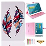 Tab S 10.5 Case, Dteck(TM) Slim-fit Stylish Colorful Modern Painted Premium Leather [Stand Feature] Magnetic Flip Case Cover for Samsung Galaxy Tab S 10.5 SM-T800/T805C (01 Painting Feather)