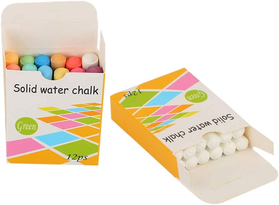 Baywell Color Chalk Children Teachers Stationery Painting Coloured Chalks Crayons Pack of 12 Assorted Color Sticks Markers for Blackboard