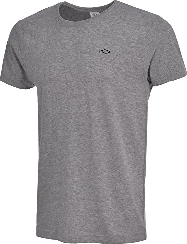 Tshirt for men and boys big and tall casual short sleeve cotton John Shark fashion designer 2017 t shirts (M, Grey)