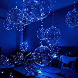 Light Up Balloon Led Balloon - Cell Battery 20 Inch 3 Mode Flashing 12 Pack clear Balloon, For Birthday Wedding Decorations