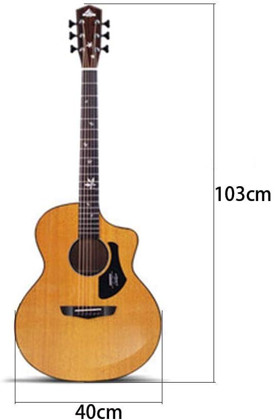 Instrumentos musicales Guitarra Folk Cartón Single Board Guitarra 41 Inch Cara Chapa Folk Guitarra Acústica Principiante Hombres Y Mujeres Caja Eléctrica Guitarras: Amazon.es: Hogar