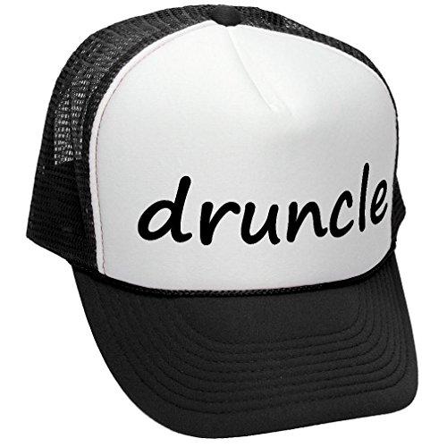 DRUNCLE - Drunk Uncle Family Reunion - Adult Trucker Cap Hat, Black