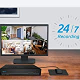 Reolink PoE NVR 16CH IP Home Security Camera System Video Recorder with 3TB Hard Drive Support 5MP/4MP/1080p/720p HD 24/7 Surveillance Recording RLN16-410