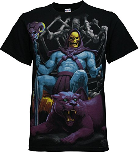Skeletor Throne Men's Black T-Shirt