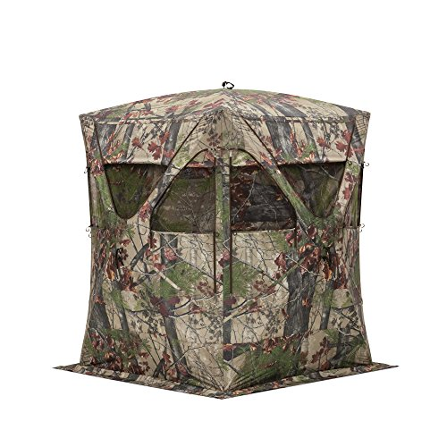 Barronett Blinds BM11BW Big Mike Pop Up Portable Hunting Blind, Backwoods (Archery Blind)