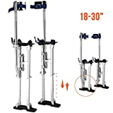 SUNCOO 18''-30'' Heavy-Duty Drywall Stilts Aluminum Tool Stilt Painter Taping Walking Finishing,330lb s. Load Capacity, Adjustable Height,Silver