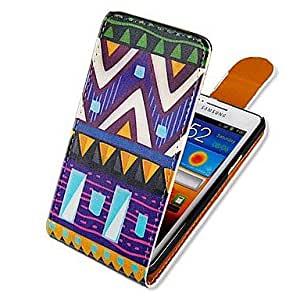 JJE National Colorful Style Up-down Turn Over PU Leather Full Body Case for Samsung Galaxy S2 I9100