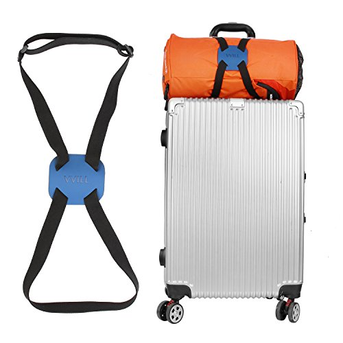 VVILL Bag Bungee, Luggage Straps Suitcase Adjustable Belt - Lightweight and Durable Travel Bag Accessories (Blue)
