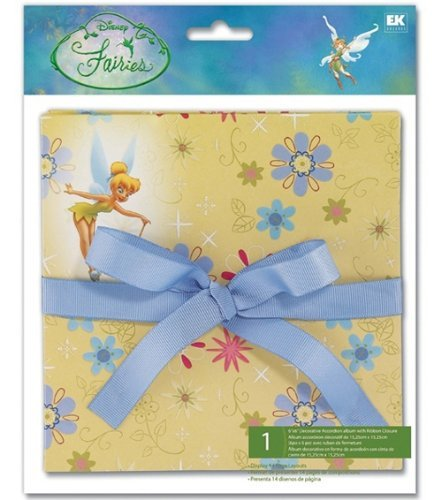 Disney 6x6 Accordion Scrapbook Album TINKERBELL W/ FLOWERS