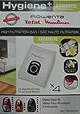 Rowenta zr200920aspirateur cylindrique Sac pour la poussière Accessoire et fourniture de vide–Accessoire Pour Aspirateur (aspirateur cylindrique, Sac pour la poussière, blanc, coton)