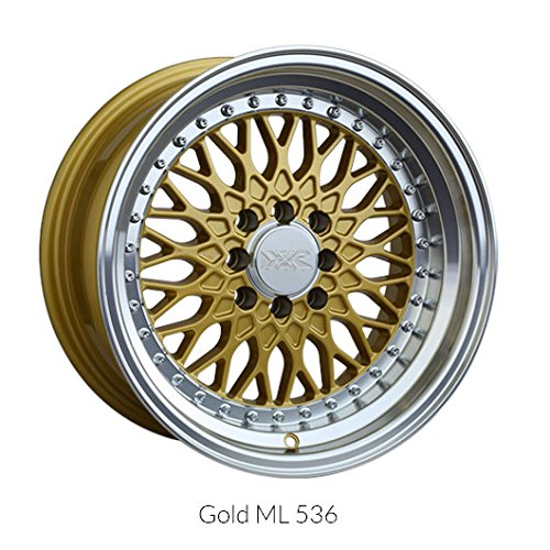 XXR 536 15 Gold Wheel / Rim 4x100 & 4x4.5 with a 0mm Offset and a 73.1 Hub Bore. Partnumber 53658467 (Car Rims 15 Inch Set Of 4 compare prices)