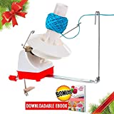 Arts & Crafts : Christmas Gift Yarn Ball Winder Effective Jumbo Size Knitting Swift Yarn Winder Hefty Hand Operated Yarn Winder Solution for Your Yarn Storage Sewing and Crocheting Needs 7-Ounce Included E-book