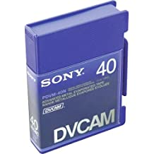 Sony PDVM-40N Mini DVCAM Metal Evaporated Component Digital Video Tapes Without IC Memory Chip - Master Grade Certified