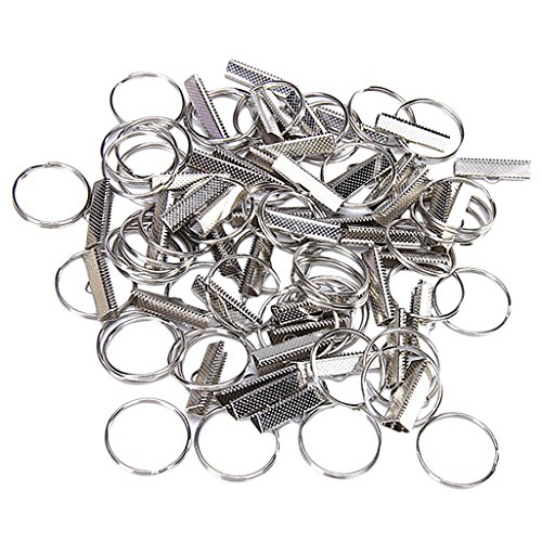 TUPARKA 40 PCS Keyring Blanks Split Metal Keyring Crafts DIY Key Rings with Open Jump Rings and Link Chain