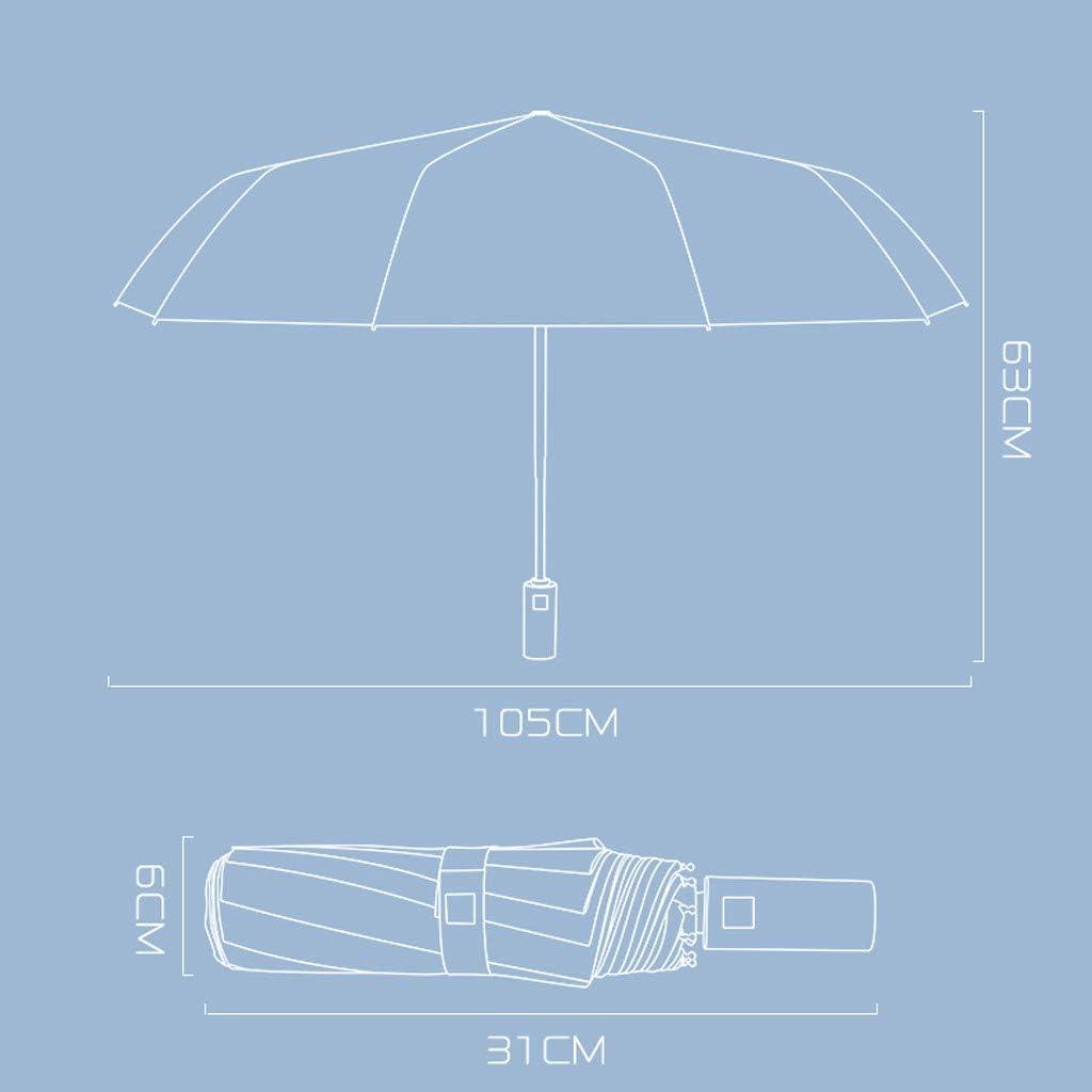 Design Compact et l/éger et Haute r/ésistance au Vent Bleu Bordeaux Hunpta@ Parapluie Pliant Coupe-Vent pour Homme et Femme avec Bandes r/éfl/échissantes