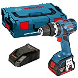 Bosch GSB 18V-EC/ Professional Cordless Combi Drill with Brushless Motor Ec / 5Ah x 2 EA Battery + Case + Charger ( 220V, 60hz , Erope C type Plug)