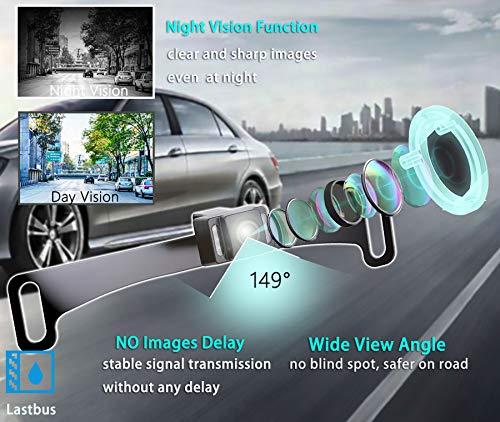 Wireless Backup Camera, Backup Camera, LASTBUS Anti-Theft Rear View 5 Inch  Monitor and Waterproof Night Vision Reversing Camera for Car, Van, Truck,