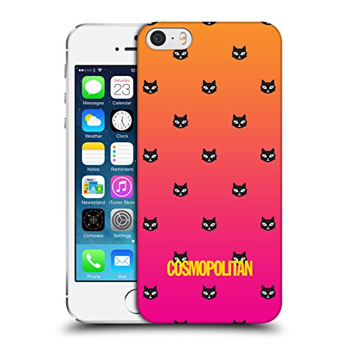 Official Cosmopolitan Orange And Pink Lovey The Cat Hard Back Case for Apple iPhone 5 / 5s / SE