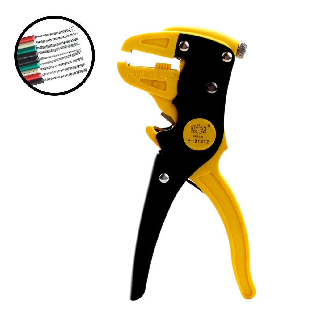 Automatic Wire Stripper, 2 in 1 Self-Adjustable Duckbill Cable Cutter 0.5-6mm Cutting Range Cutting Pliers Hand Tool for Electrical Repairs, Renovation, Home Appliances, Automotive, Speaker Wire