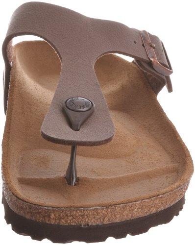 Birkenstock Gizeh Birko-Flor - Sandalias de dedo unisex, talla 35 (estrecho) Marrón (Mocca Nubuk)