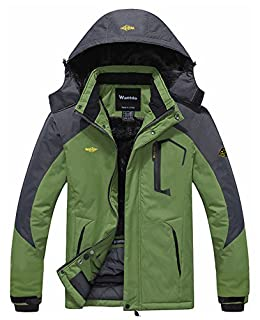 Wantdo Men's Waterproof Mountain Jacket Fleece Windproof Ski Jacket US L Grass Green L (B00NHO2Y2S) | Amazon price tracker / tracking, Amazon price history charts, Amazon price watches, Amazon price drop alerts