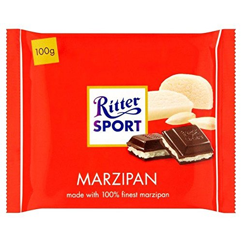 Ritter Sport Marzipan - Ritter Sport Marzipan Dark Chocolate 100g - Pack of 2