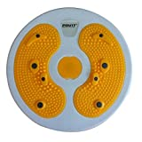 Waist Trimmers, PeleusTech Waist Twisting Disc Figure Trimmer Multifunction Magnet Balance Rotating Board - Yellow + White