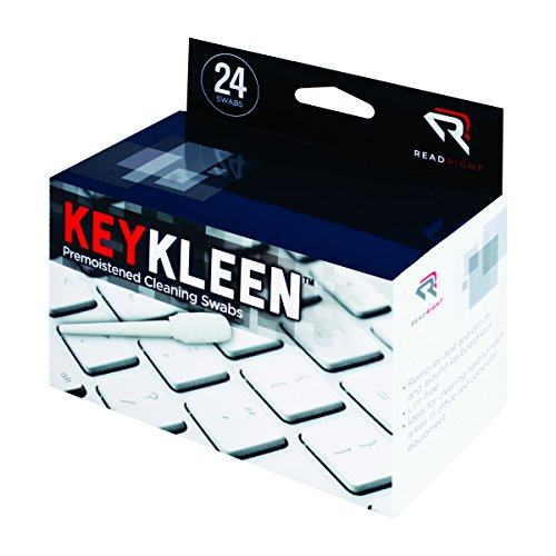 Read Right KeyKleen Keyboard Cleaner Swabs, 24 Swabs per Box - Cleaner Swabs