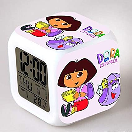 Amazon.com: Dora The Explorer LED Alarm Clock reloj despertador saat wekker Digital Clocks horloge Digitale Kids Plastic Watch Toys Gifts: Home Audio & ...