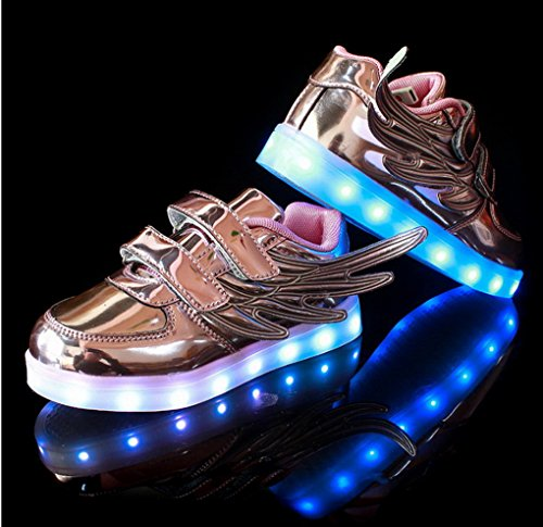 Amazon.com | Kids USB Charging LED Shoes Boy Girl 7 Colors LED Light up Sneakers Athletic Wings Trainers Low Top Shoes | Sneakers