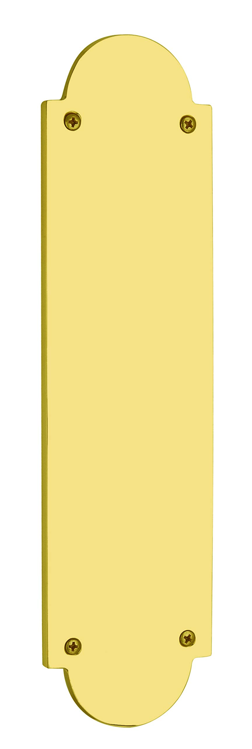 Knoxx Hardware Traditional Push Plate -3'' x 12'', Polished Brass