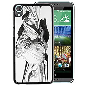 A-type Arte & diseño plástico duro Fundas Cover Cubre Hard Case Cover para HTC Desire 820 (Marble Sculpture White Black Art History)
