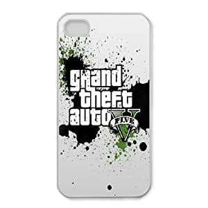 iPhone 4,4S Phone Case White Grand Theft Auto 5 DY7697955