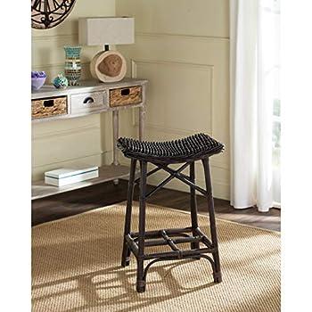 Safavieh Home Collection Amara Brown Wicker Barstool
