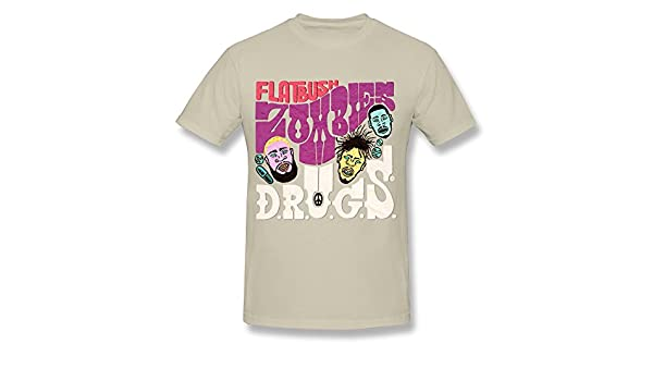 Amazon.com: Handson Mens Camisetas Flatbush Zombies Logo T-shirts Size L Natural: Clothing