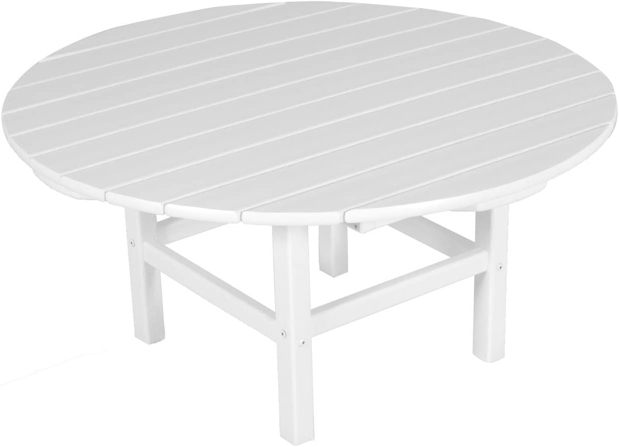 POLYWOOD RCT38WH Round 38 Conversation Table, White