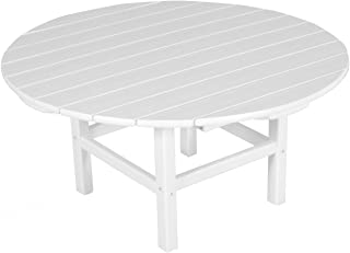 "product image for POLYWOOD RCT38WH Round 38"" Conversation Table, White"