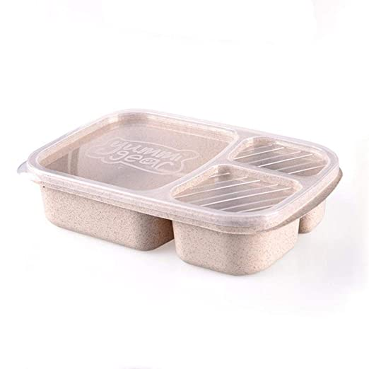 HuXwei Paja de Trigo Caja de Almuerzo Microondas Comida Contenedor ...